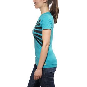 Edelrid Gearleader Kortærmet T-shirt Damer blå